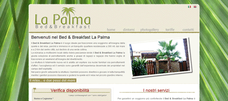 Sito web del Bed & Breakfast La Palma