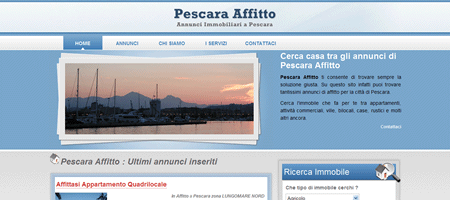 Sito web di PescaraAffitto